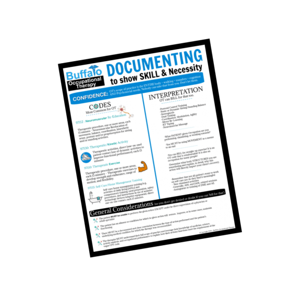 Documenting to show skill- Documentation Series- Buffalo Occupational Therapy