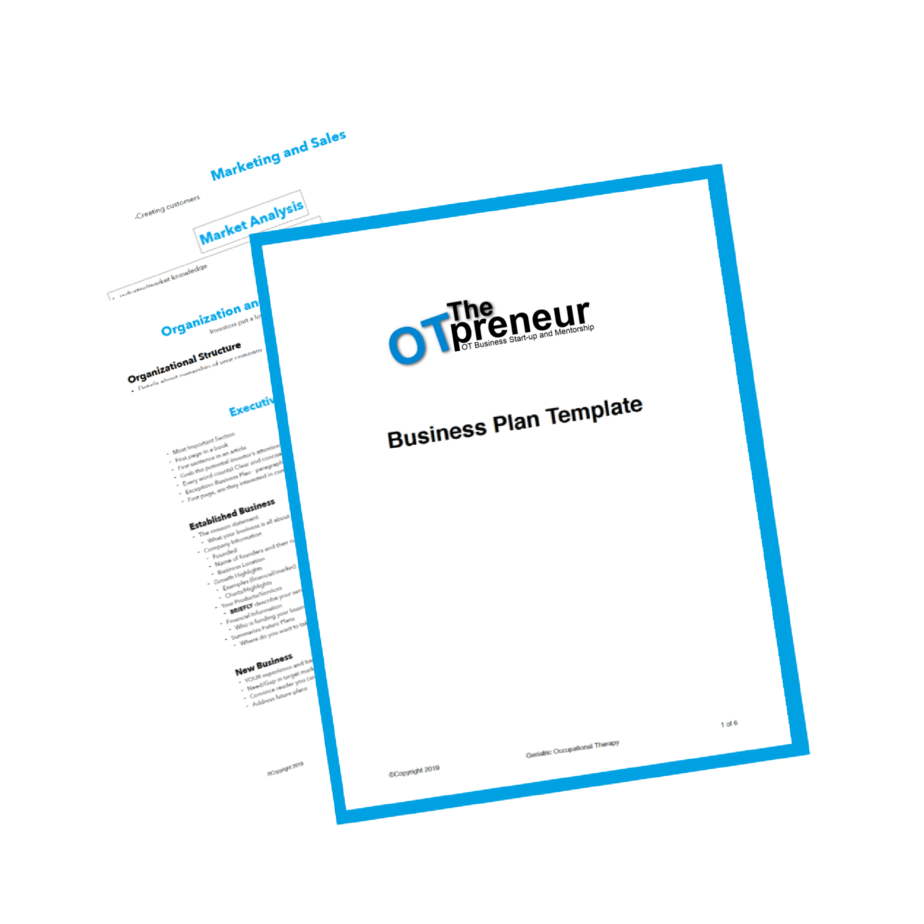 occupational therapy business plan template