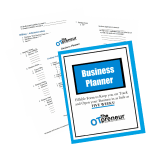 Business Planner form to keep you on track and open your business - The OTpreneur - Thumbnail