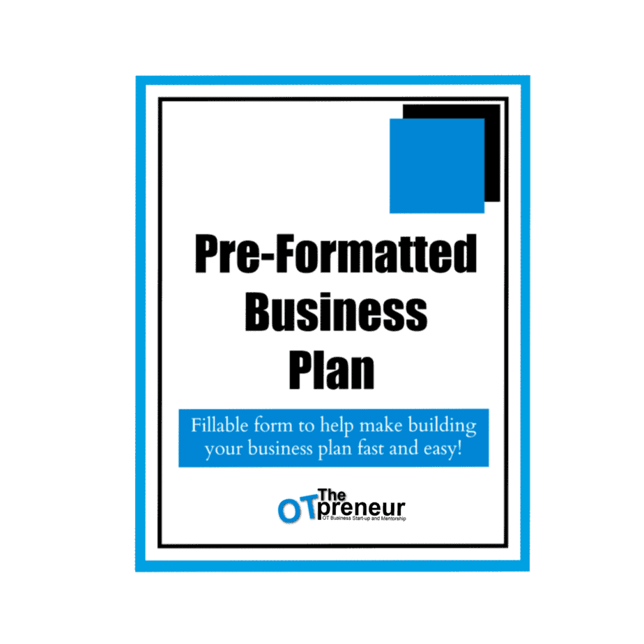Pre-Formatted Fillable Business Plan - The OTpreneur - Thumbnail